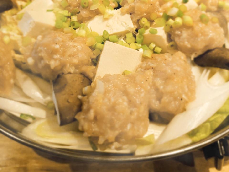 東京 亀戸 時代や 鶏つくね鍋